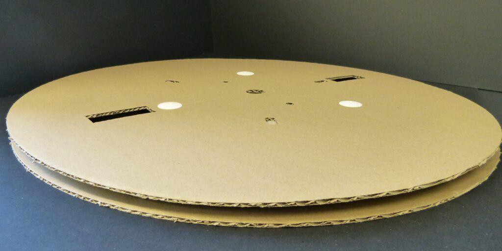 Notre nouvelle bobine carton grand diamètre livrable en kit
